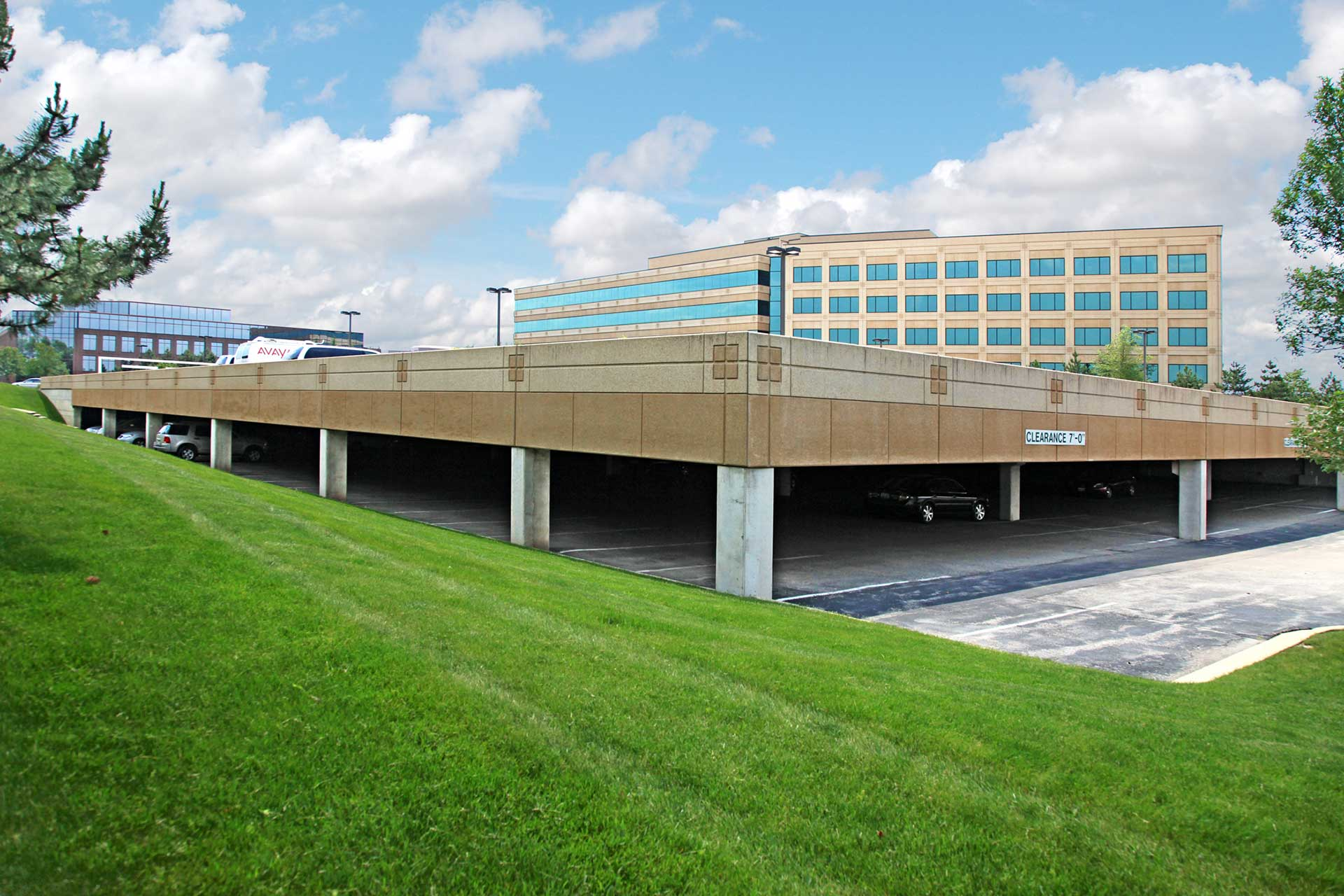 162-vehicle parking deck for 2300 Cabot Drive office building
