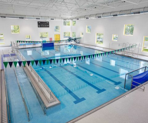 Indoor swimming pool at the Arts & Recreation Center at Ellis Park