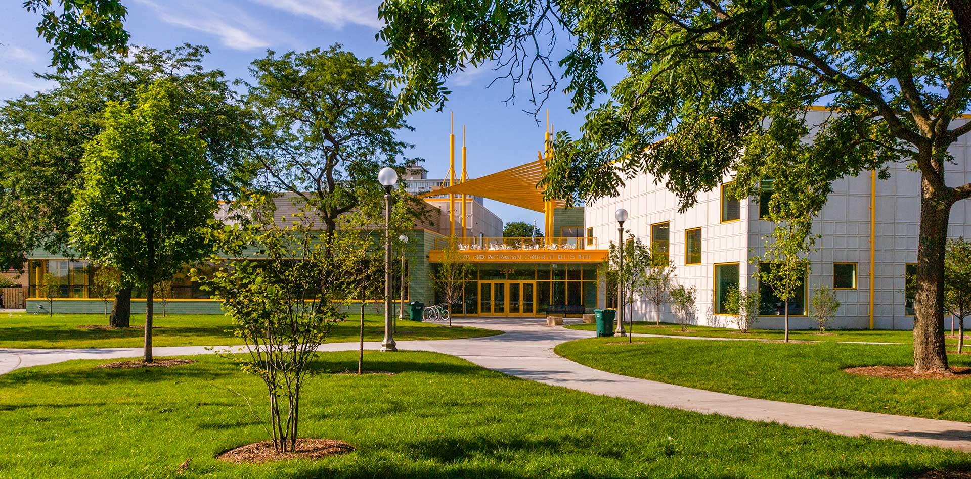 Exterior of the Arts & Recreation Center at Ellis Park