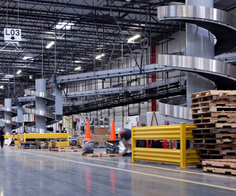 Conveyor system at W. W. Grainger distribution center