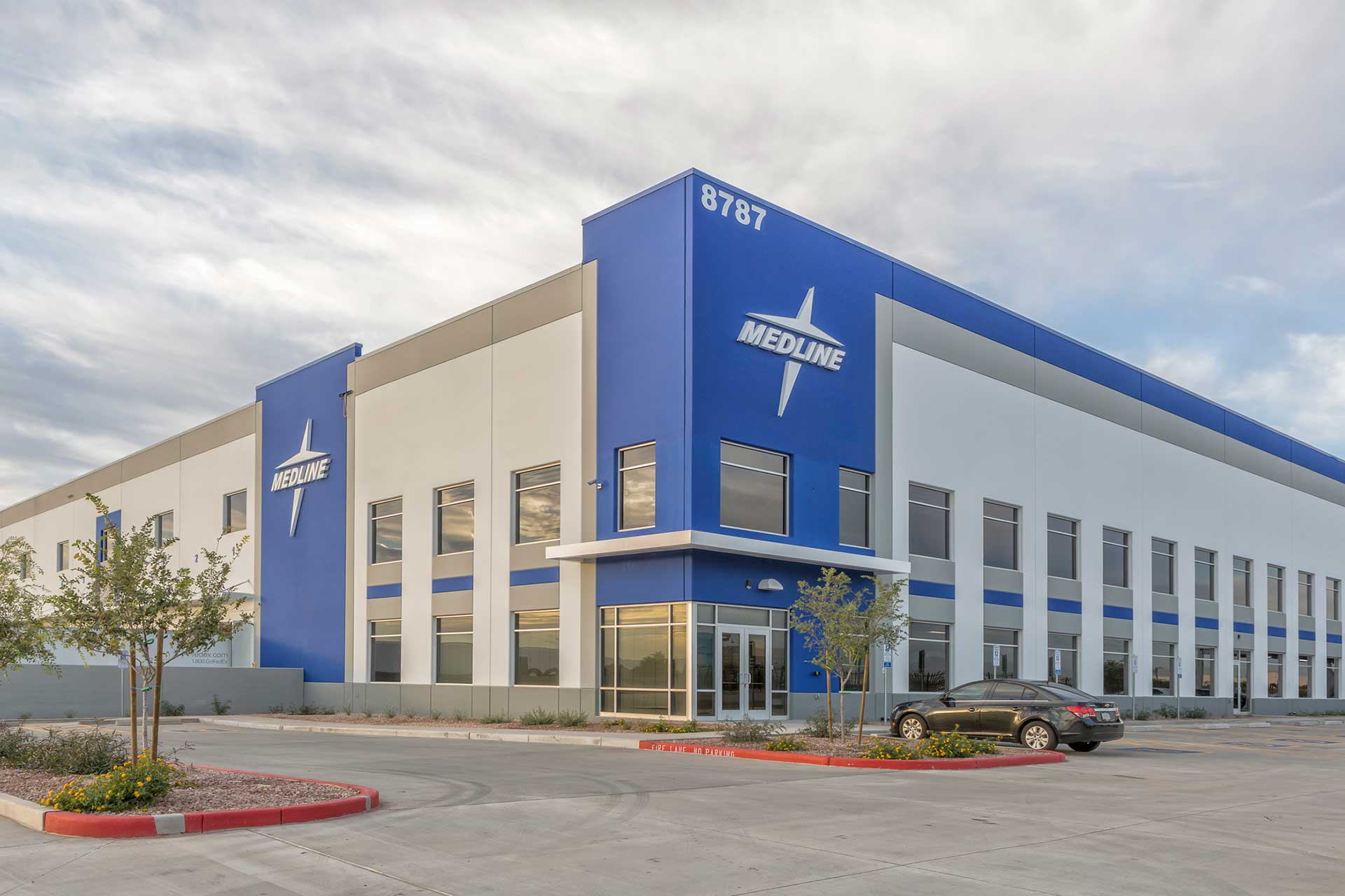 Exterior of Medline Industries distribution center in Phoenix, Arizona