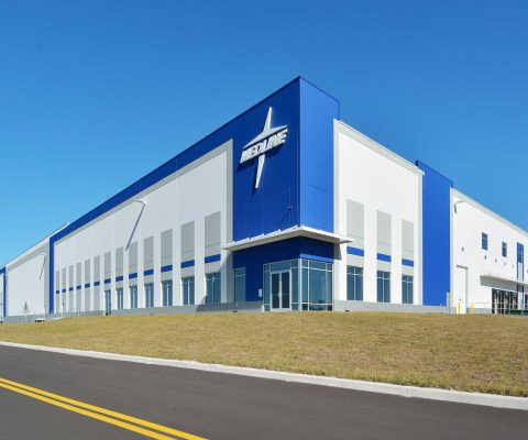 Exterior of Medline Industries distribution center in Auburndale, Florida
