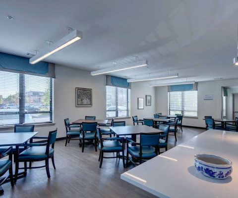 Dining room at Mercy Housing at Mercy Park